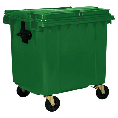 1100L GREEN PLASTIC WASTE CONTAINER