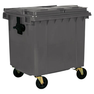 1100L GREY PLASTIC WASTE CONTAINER